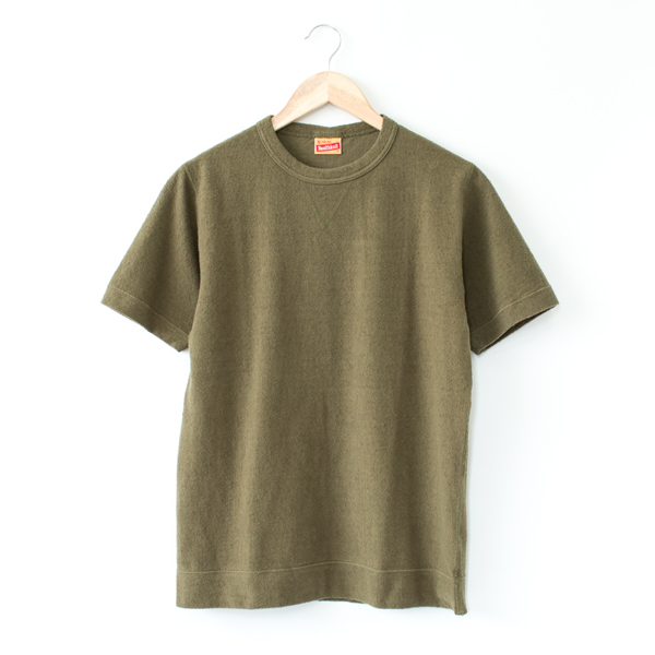 ブラッシュジャージー スウェットタイプ 半袖Tシャツ(OLIVE)