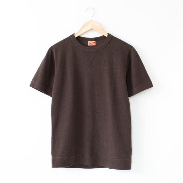 ブラッシュジャージー スウェットタイプ 半袖Tシャツ(BLACK) ※こげ茶に近い色合いです