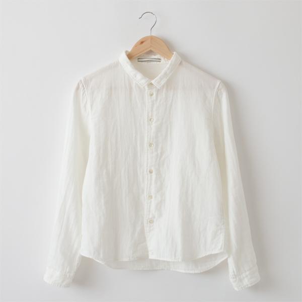 スーピマコットン二重ガーゼシャツ(WHITE)