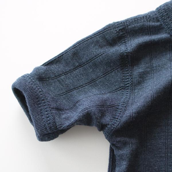 ショートスリーブ ボディスーツ(ネイビー) 袖口