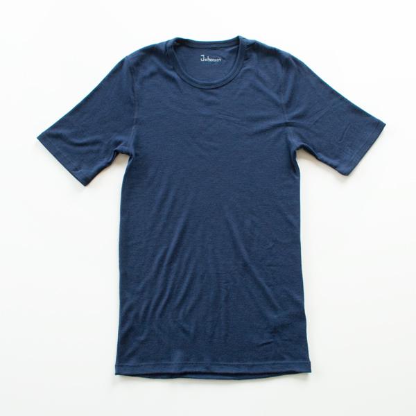 メンズ メリノウール Tシャツ(ネイビー)