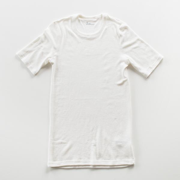 メンズ メリノウール Tシャツ(ホワイト)