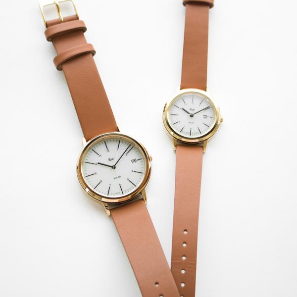ひとまわり小さい「ALBA リキ腕時計SOLAR AKQD029」と一緒にペアウォッチとしてもお使い頂けます