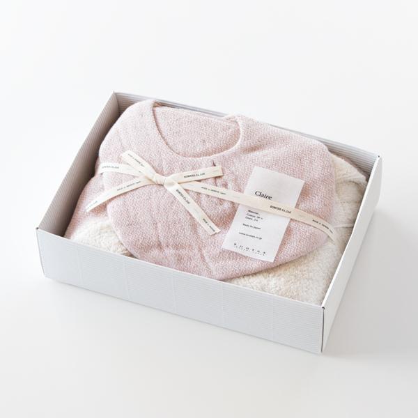 クレア フード付きバスタオル・スタイセット(スモーキーピンク)