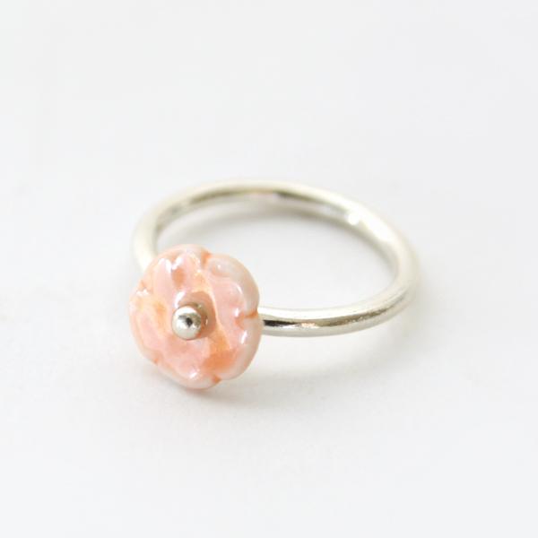リング elements flower(オレンジ)