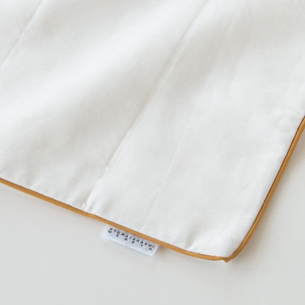 ハンドタオルは吸水性の高い5重合わせのガーゼ