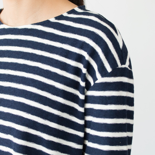 袖切り替え(NAVY/WHITE)