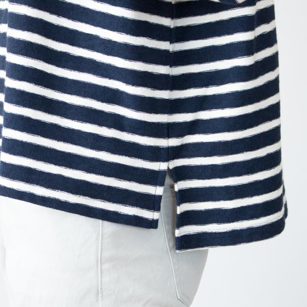 裾スリット(NAVY/WHITE)