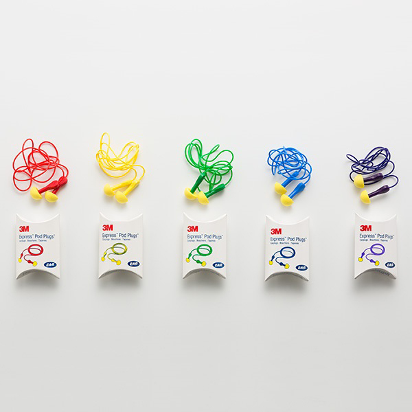 耳栓のお色はアソートとなっております