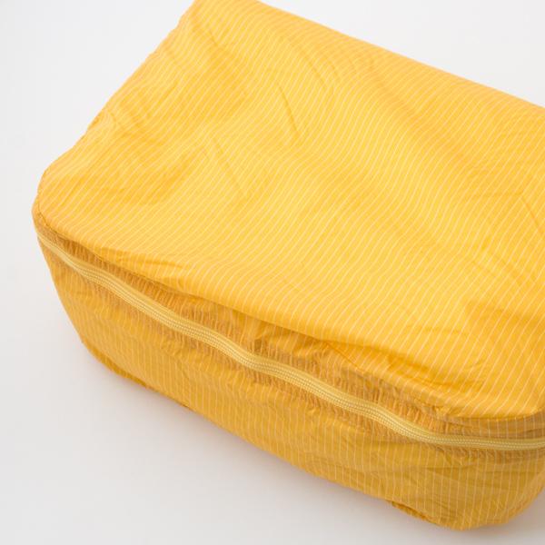 用途に合わせて色とサイズを使い分け、スーツケースの中をしっかり整理できて便利です