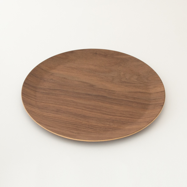 木製タイトリム皿 M(ウォルナット)