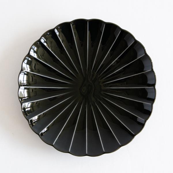 ぎやまん陶 七寸皿(墨ブラック)
