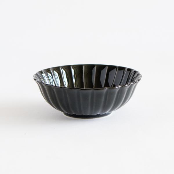 ぎやまん陶 浅小鉢(墨ブラック)