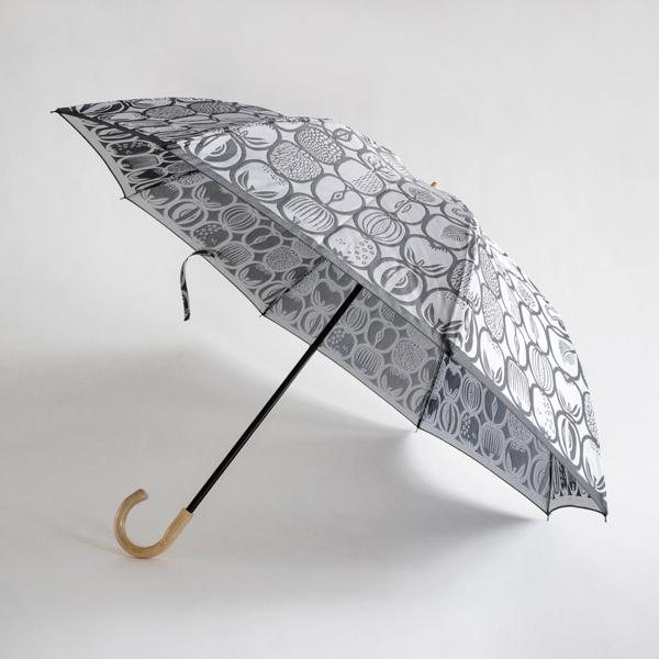 晴雨兼用折り畳み傘 FRUKTLADA(ホワイト×ブラック)