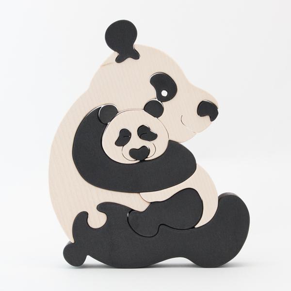 FAUNA ファウナ 木製パズル 動物の親子 パンダ