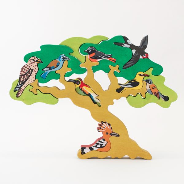 FAUNA ファウナ 木製パズル 鳥達の木 渡り鳥