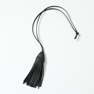 LEATHER KEY HOLDER FRINGE
