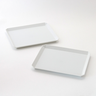 TY SQUARE PLATE PAIR WHITE