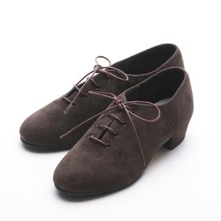 ローヒールシューズ  JazzTap Shoe  Suede chocolate