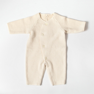 RAISED COTTON BABY ROMPERS
