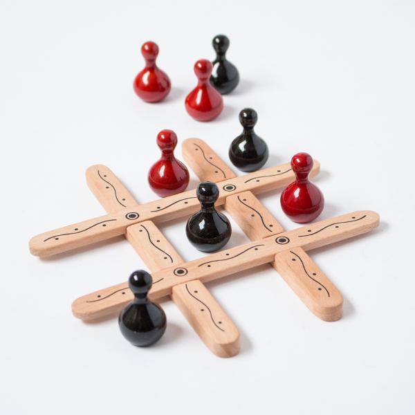 Tic Tac Toe(ティック・タック・トー/木製マルバツゲーム)