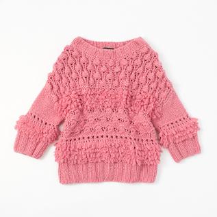 タッセルセーター(手編み)