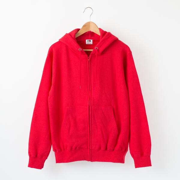 RED-Mフル-ツ裏毛ジップパ-カ-