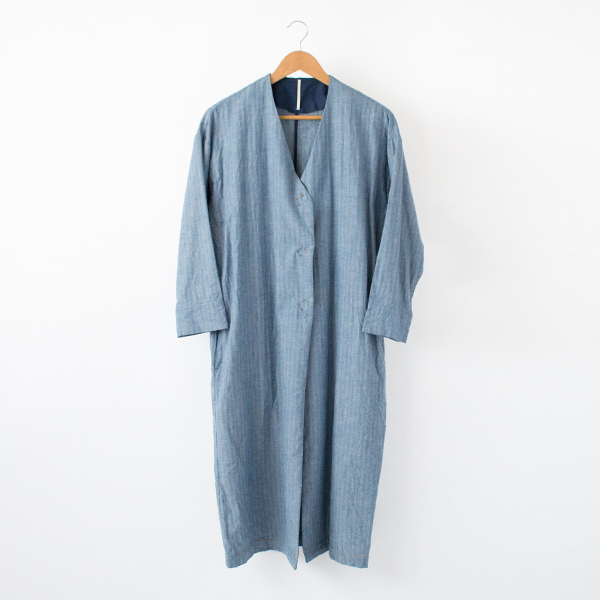 インディゴ シャツガウン(BLUE)
