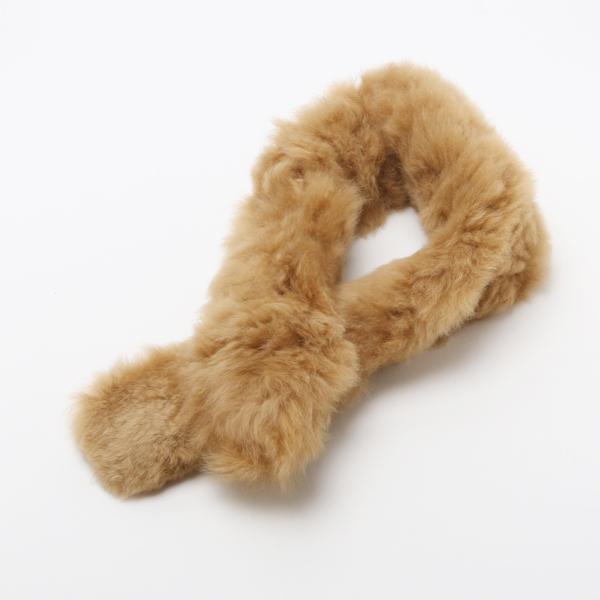 Fur Scaf Baby Alpaca-Lt brown