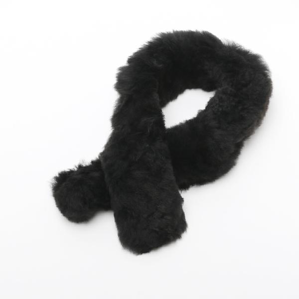 Fur Scaf Baby Alpaca-Black