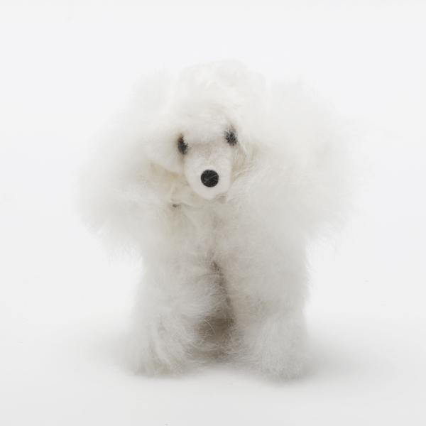 Baby Alpaca Fur Dog-White