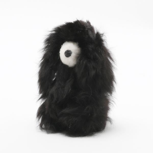 Baby Alpaca Fur Dog-Black