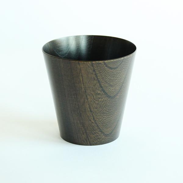 うすびきカップ 黒拭漆