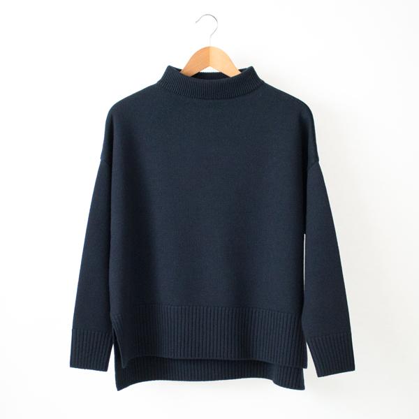 モックネックセーター(NAVY)