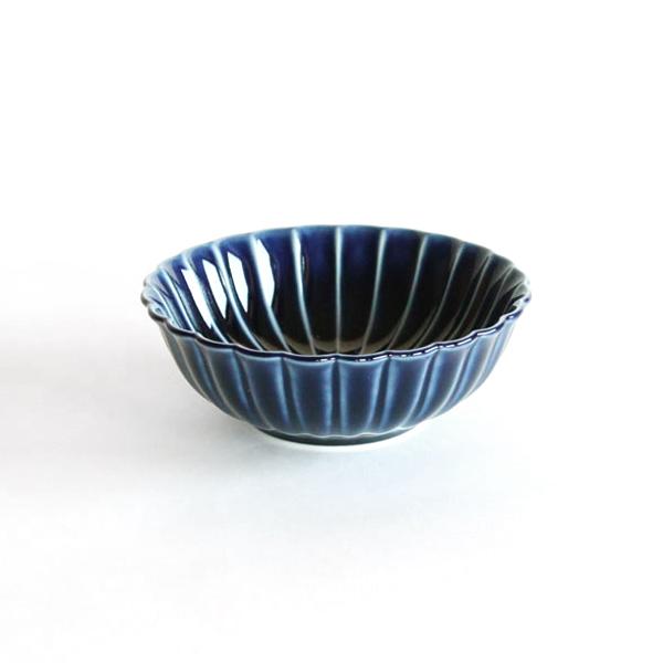 ぎやまん陶 浅小鉢(茄子紺ブルー)