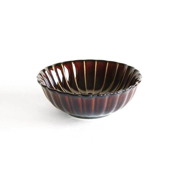 ぎやまん陶 浅小鉢(漆ブラウン)