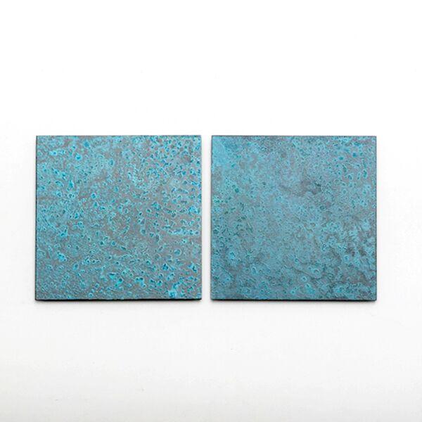 copper コースター 2枚セット(blue)
