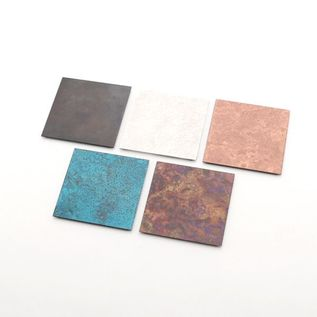 copper coaster set of five