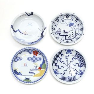 PLATE SET OF FOUR 14cm