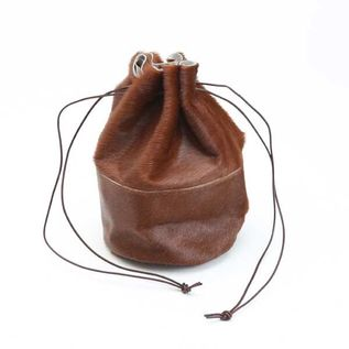 HORSE FUR DRAW STRINGS POUCH/M(巾着ショルダー)