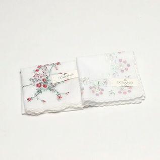 ポワンポワン ベトナム手刺繍ハンカチ フラワー