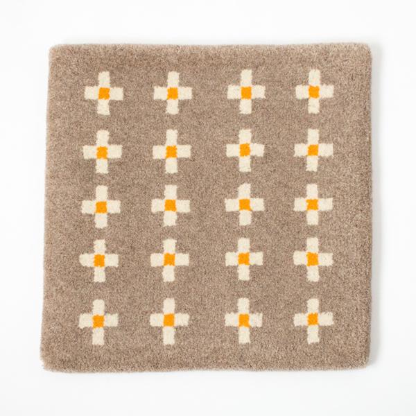 米沢絨毯 チェアラグ(お花)