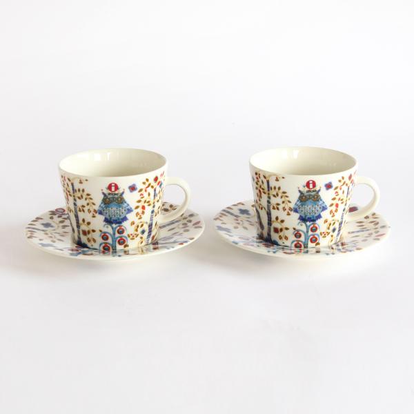 Taika コーヒーカップ&ソーサー ペアセット ホワイト