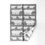 ハーフブランケット(90×130)白クマ グレー