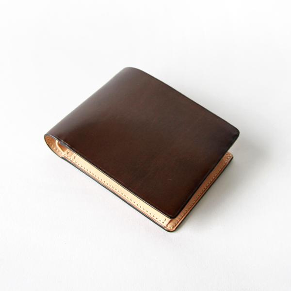 二つ折り財布 ダークブラウン