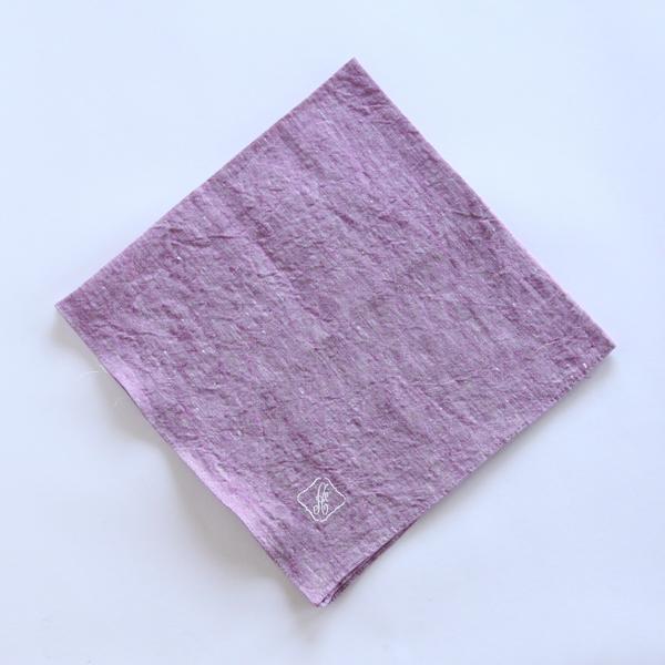 カラー刺繍ハンカチ A