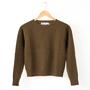 ケーブル編みセーター