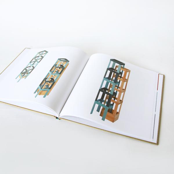 作例を写真で紹介するデザインブックが付属しています