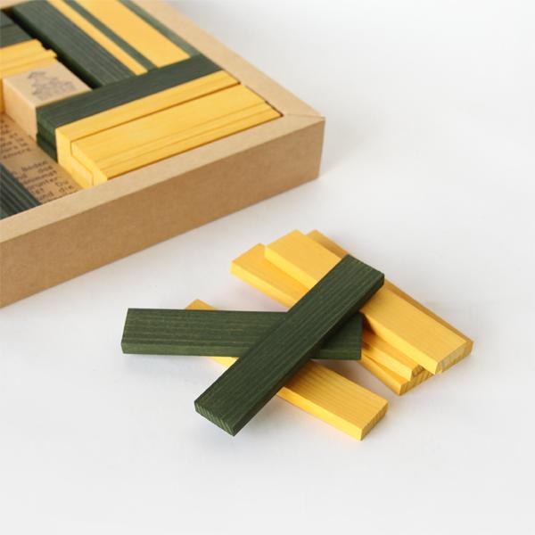 黄色と緑色、2色のピースが入っています