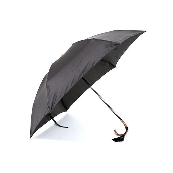 レディース折畳み傘 無地 BLACK